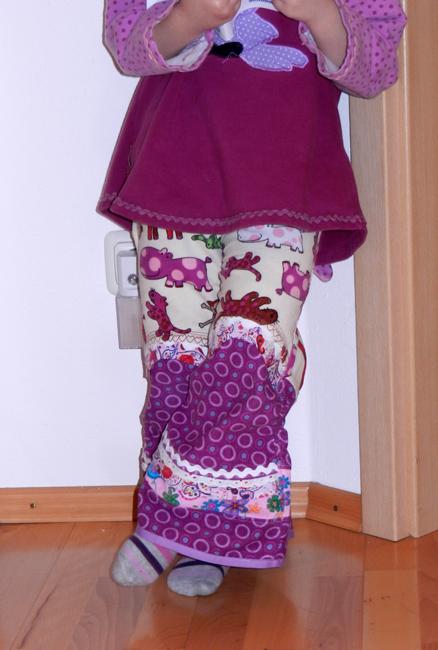 Neue Frühlingshose in lila
